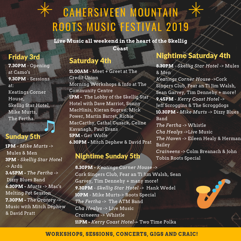 Cahersiveen Roots Music Festival Timetable